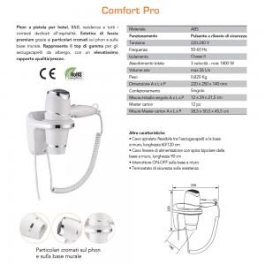 Asciugacapelli a Parete 1800W Vama Comfort Pro Bianco