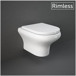 WC Sospeso in Ceramica RAK Compact Bianco