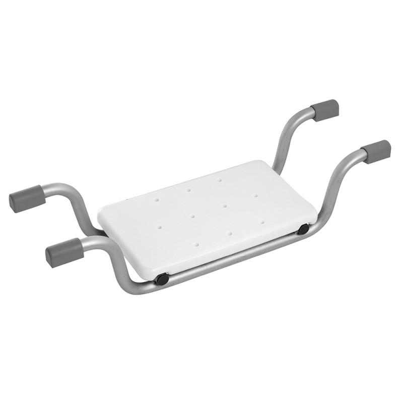 Sedile Vasca Alluminio Buchi Drenaggio Gommini Antiscivolo