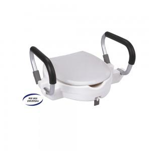 Rialzi WC in Polietilene, Maniglioni in Alluminio, Adatto per Vasi Universali