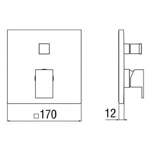 Miscelatore Doccia con Deviatore Nobili Serie Cube