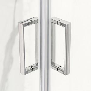 Moderno Box Doccia Rettangolare 70x90 cm in cristallo trasparente