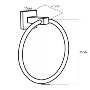 Portasalviette Cromato a Parete Diametro 15 cm