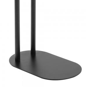Piantana portasciugamani 2 bracci nera opaca con base ovale