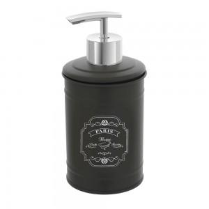 Dispenser Sapone Liquido da Appoggio in Latta Colore Grigio