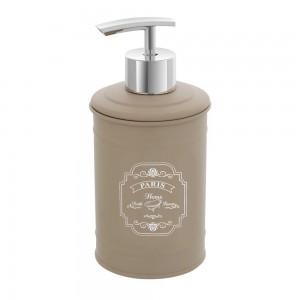 Dispenser sapone liquido in latta colore beige