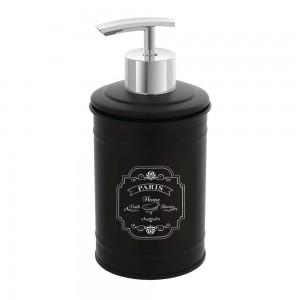 Dispenser Per Sapone Liquido In Latta Colore Nero da Appoggio