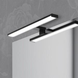 Lampada Led Per lo Specchio Colore Nero Opaco 40cm da 8w