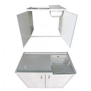 Mobile Lavatrice e Lavatoio Resina Bianco Reversibile negrari