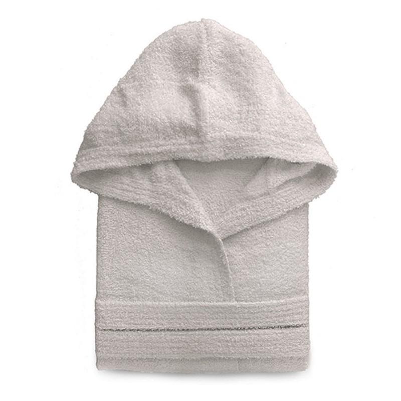 Accappatoio Sabbia Taglia L Cappuccio Cintura e Tasche 100% Cotone