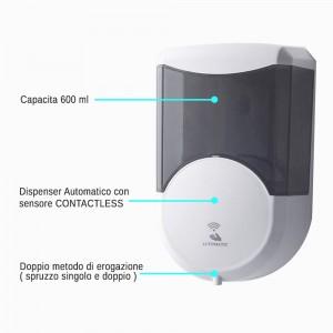 dispenser igienizzante mani automatico capienza 600 ml