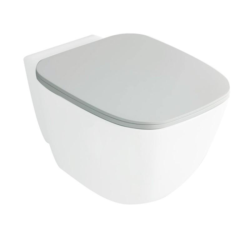 Tavoletta Coprivaso RAK ceramiche serie ONE FLAT con chiusura rallentata