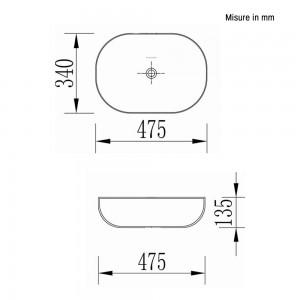 Ciotola da Appoggio in Ceramica 47,5 x 34 cm