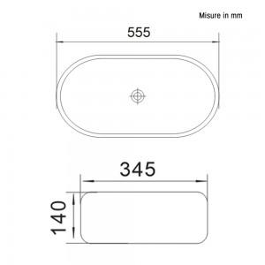 Ciotola da Appoggio in Ceramica Ovale 55,5 x 34,5 cm
