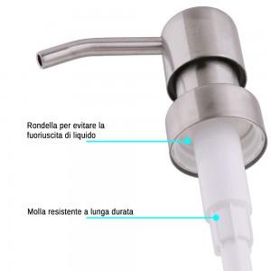 Dispenser Sapone In Resina Beige Capacita 280 Ml Effetto Pietra