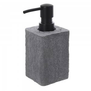 Dispenser sapone Resina Grigio Capacita 280 ml Effetto Pietra