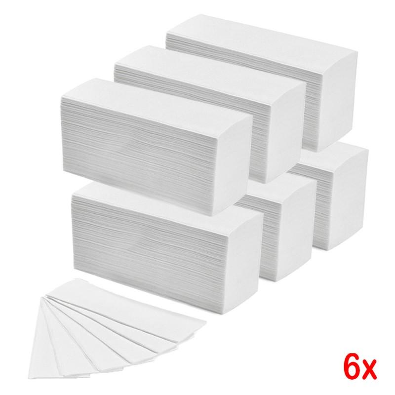 6 Confezioni Da 150 Salviette In Cellulosa Piegate A Z Per Dispenser Carta