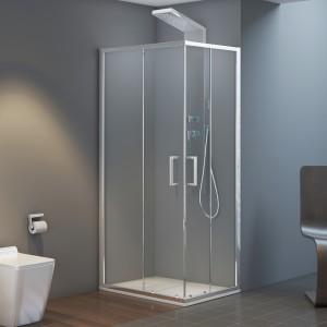 Box doccia 90x90 quadrato doppio scorrevole vetro trasparente 6 mm