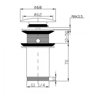 Piletta Universale Tonda Cromo per Lavabo scheda tecnica