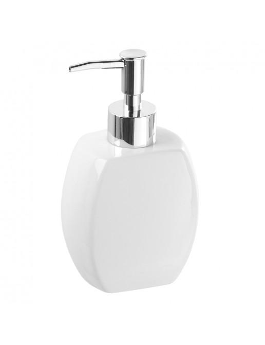 Dispenser Sapone Liquido da Appoggio Moderno Ceramica Bianco