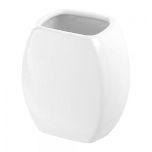 Portaspazzolino in Ceramica Bianco Linea Parigi