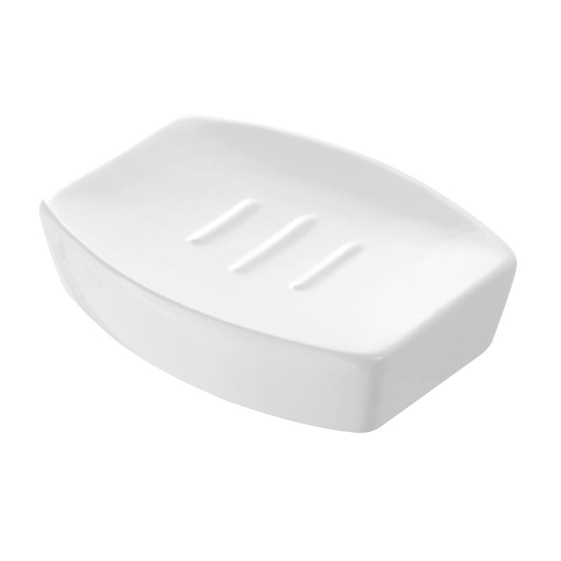 Portasapone in Ceramica Bianco Linea Parigi