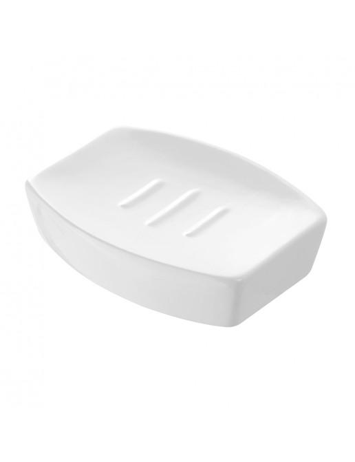 Porta Sapone Da Appoggio Moderno In Ceramica Bianco