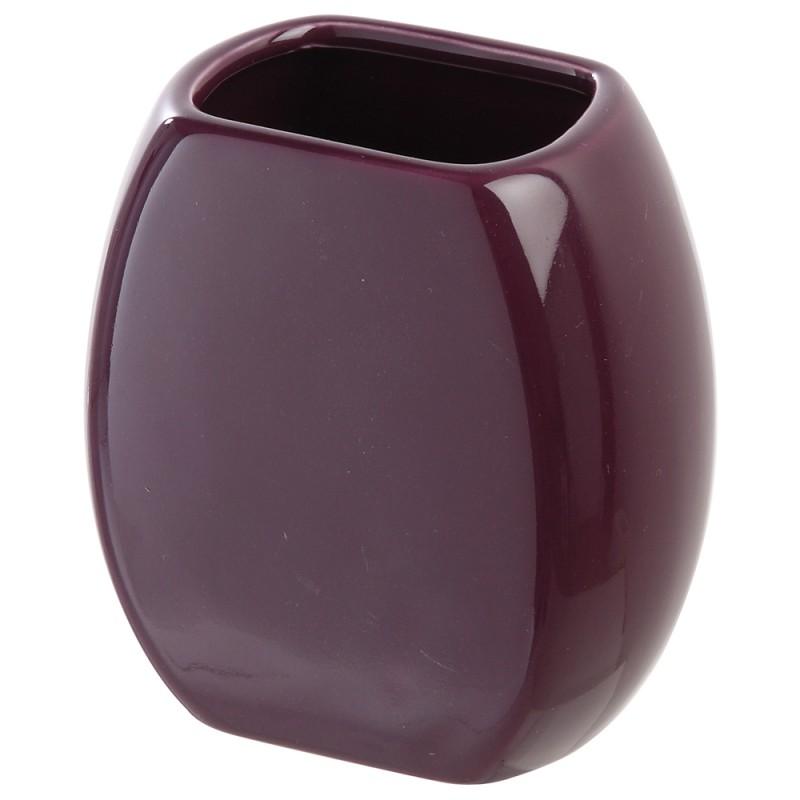 Portaspazzolino da appoggio in Ceramica Viola