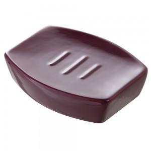 Porta sapone Da Appoggio Moderno in Ceramica Viola