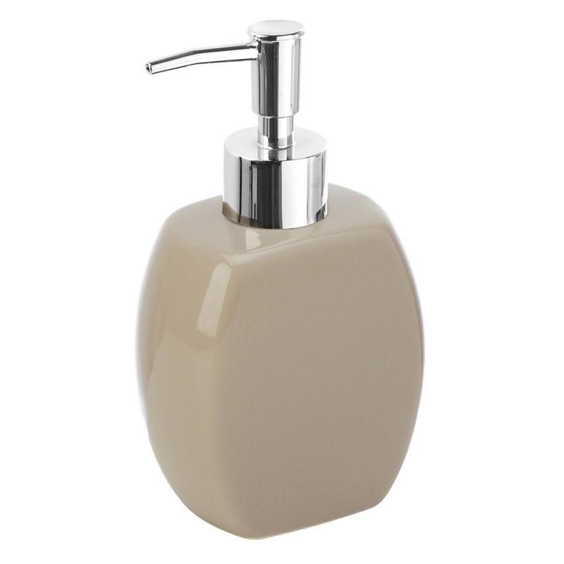 Dispenser Sapone Liquido Da Appoggio Moderno Ceramica Tortora