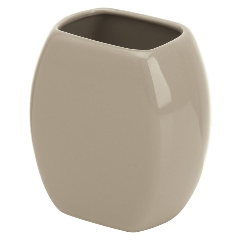 Portaspazzolino in Ceramica Tortora Linea Parigi feridras