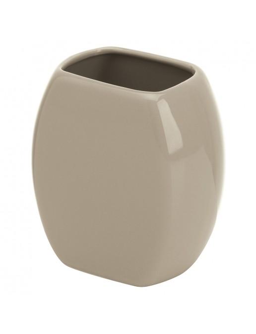 Portaspazzolino Da Appoggio Moderno Ceramica Tortora