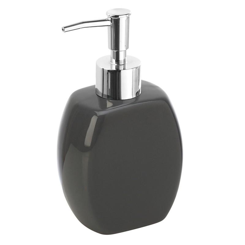 Dispenser Sapone Liquido Da Appoggio Moderno Ceramica Grigio