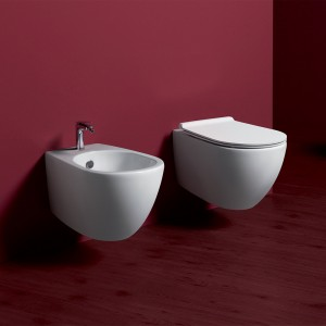 Sanitari Sospesi Simas Modello Vignoni RIMLESS con Sedile Soft-Close WC + Bidet