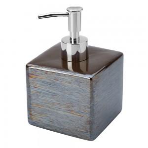 Dispenser Sapone in Ceramica Fango Linea Cuba