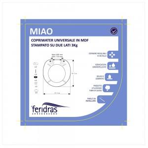 Copriwater Universale in MDF Stampato  Miao Feridras - 3
