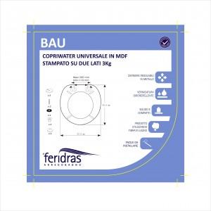 Copriwater Universale in MDF Stampato Bau Feridras - 3