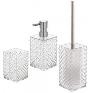 Dispenser sapone bianco trasparente in Plastica As