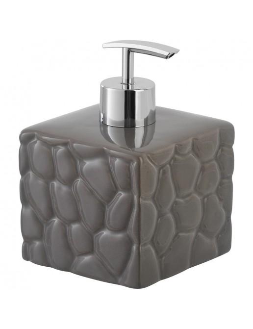 Dispenser in Ceramica Grigio Linea Sasso