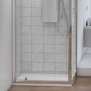 Box doccia angolare con 1 Porta Battente e 1 Fissa 70x70 cm