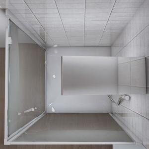 Interno Box doccia angolare con 1 Porta Battente e 1 Fissa 70x70 cm