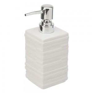 Dispenser Sapone  in Ceramica Bianco Linea Brik