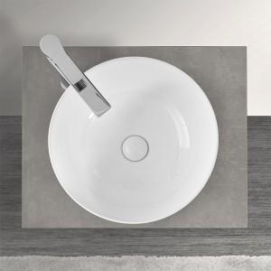Lavabo a Bacinella Tondo 41,6 cm Bianco Lucido