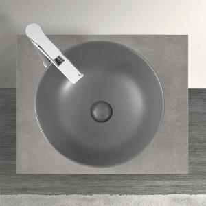 Lavabo a Bacinella Tondo 41,6 cm Basalto Opaco da Appoggio