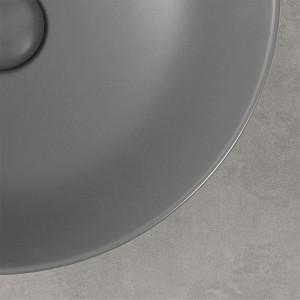 Lavabo a Bacinella Tondo 41,6 cm Basalto Opaco