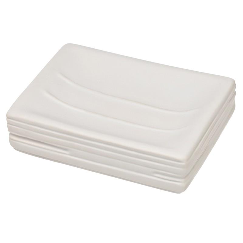 Piattino Portasapone In Ceramica Bianco Da Appoggio