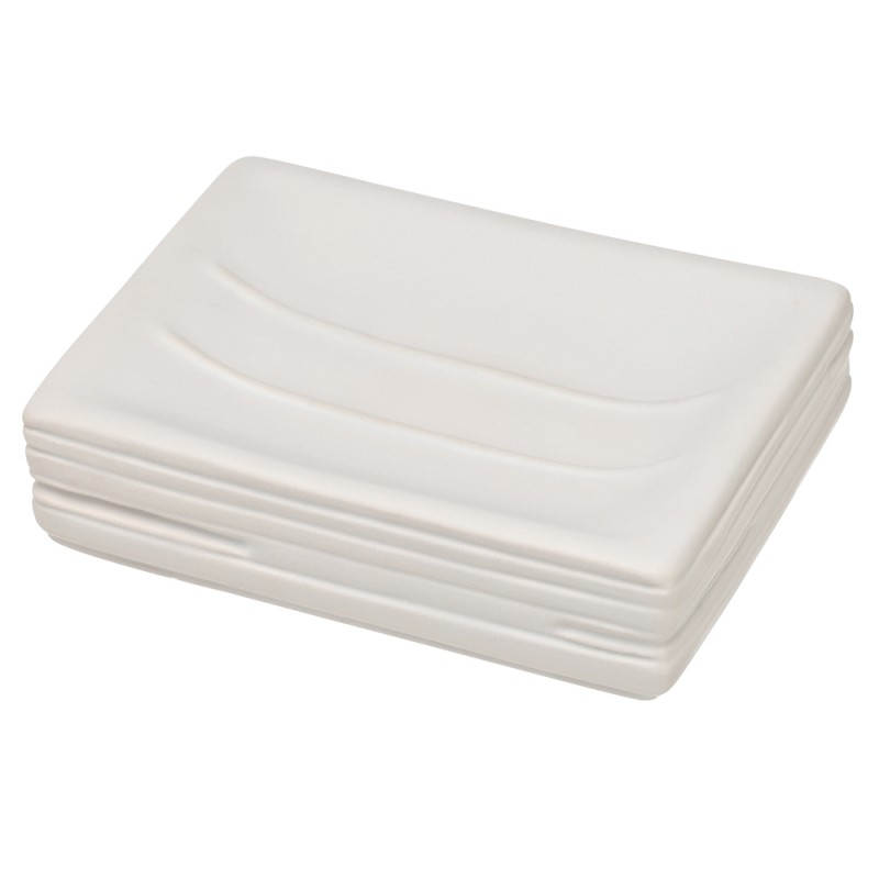 Portasapone in Ceramica Bianco Linea Brik