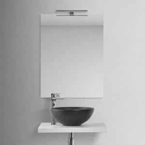 Lavabo a Bacinella Tondo Nero Opaco