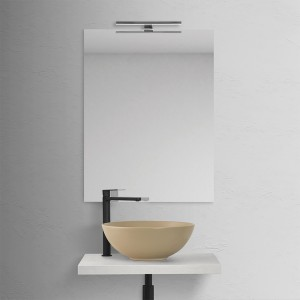 Lavabo a Bacinella Cappuccino Opaco da Appoggio