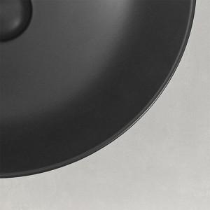 Lavabo a Bacinella Tondo 41,6 cm  Nero Opaco